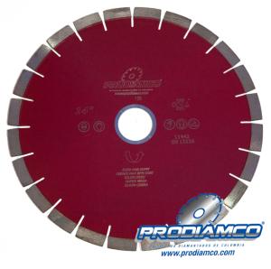 Disco Diamantado Silencioso Super Mega 14″ Granito Linea Profesional