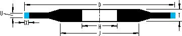 muela en resina de perfil optico