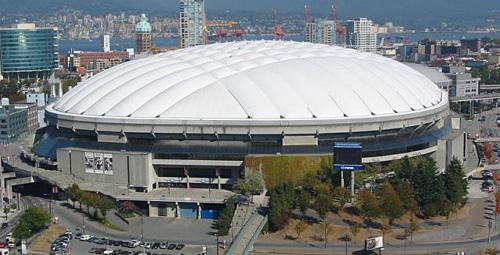 Sustitución del techo del estadio de Vancouver con ayuda de herramientas diamantadas