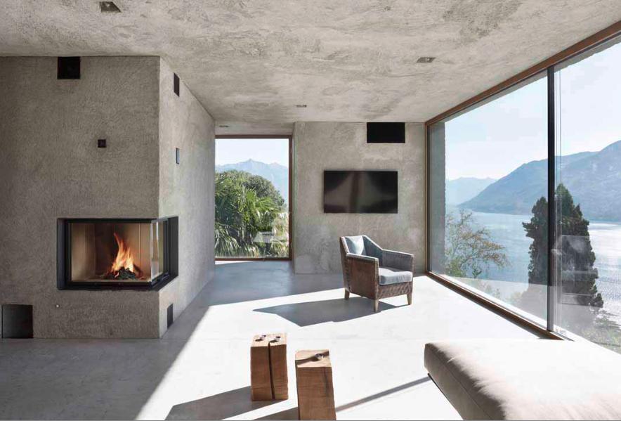 Una bella y elegante casa de concreto