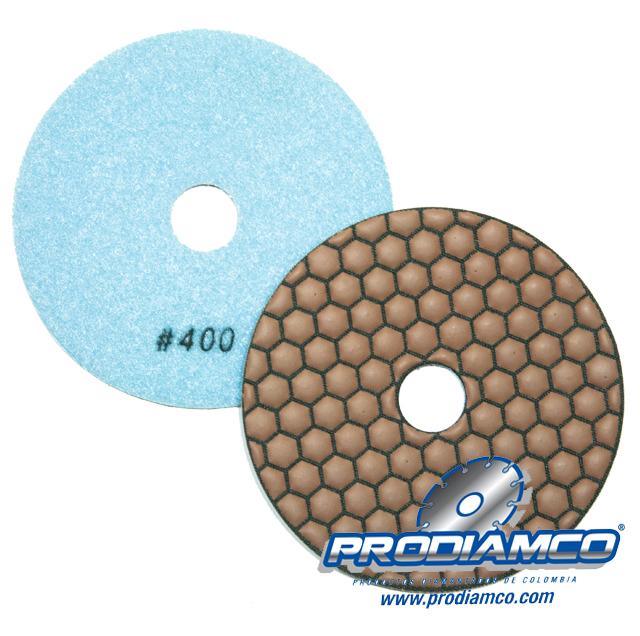 Pad Resinado Mega de 4″ para Brillo Seco Granito y Marmol. Grano 400
