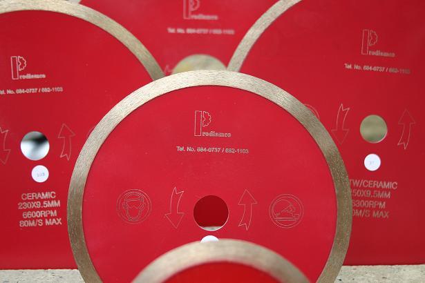 Discos Diamantados Profesionales para el corte de Cerámica, Porcelanato y Vidrio