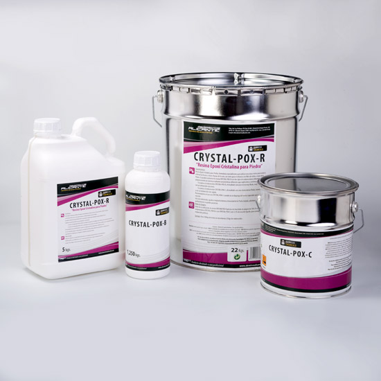 CRYSTAL-POX R. Resina Epoxy Cristalina para Piedra.