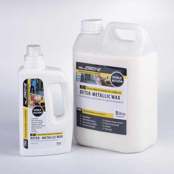 Deter-Metallic Wax. Cera metalizada reticulada con agentes limpiadores