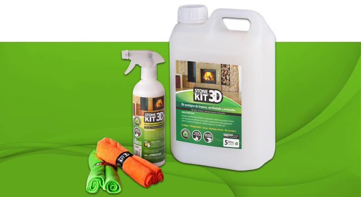 STONE KIT 3D. Kit ecológico de limpieza, abrillantado y protección