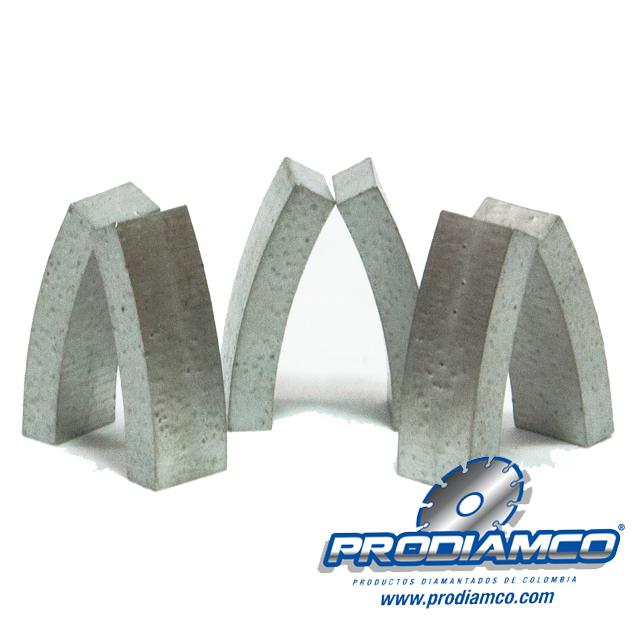 Diferentes tipos de segmentos, dientes y/o coronas, creadas para cada tipo de trabajo: PARTE II