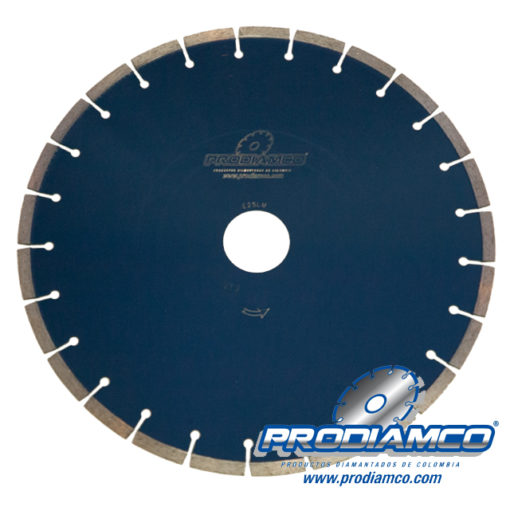 Disco diamantado para corte de concreto